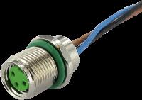 M8 female receptacle rear mount 7000-08575-9700050