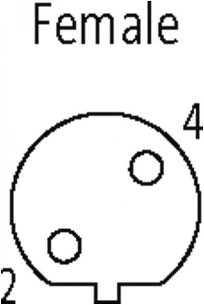 CABO COM CONECTOR M12 PROFIBUS FEMEA 90 + PONTA ABERTA B-CODED 3 POLOS 3M