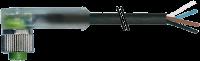 CABO PUR/PUR M12 FEMA90+ABERTO COM LED 4POLOS PRETO 10M 712421-6241000