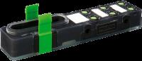 EXACT8, 6XM8, 3 POLE BASIC HOUSING, NPN-LED'S 8000-86001-0000000