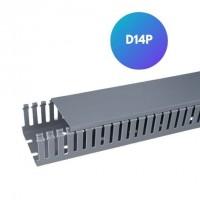 Canaleta cinza para Condutores semiaberta D14P Hellermann