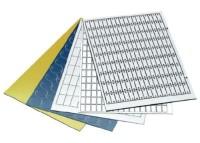 PLACA PLASTICA DUOMATT 100X25 CINZA/PRETA ADESIVA MP8601200385