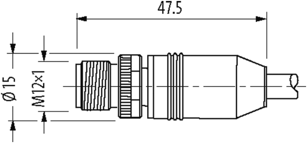 M12 0° / RJ45 MALE 0° ETHERNET