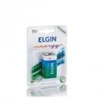 Bateria Elgin 9V Alcalina 6LR61 49x17 26mm