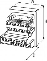 INTERFACE PASSIVA UFL 34 POLOS C/ LED 24VDC 1 ME54015