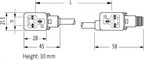 M12 MALE ON REAR OF MSUD DOUBLE VALVE PLUG 11MM