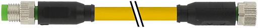 M8 male 0° / M8 female 0°