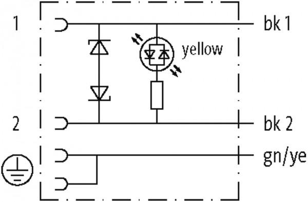 CABO PUR/PVC 18MM 110VAC/DC DIODO ZENER+LED 2POLOS+TERRA CINZA 3M