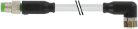 CABO PUR/PVC M8 MACHO RETO+FEMEA90 3POLOS CINZA 2M (CODIGO VELHO ME3813174) 788021-2200200