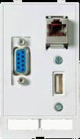 MODLINK MSDD INSERTO TOMADA USB + RJ45 + DB9 FEMEA/MACHO (GENDER CHANGER) 468000-1430000