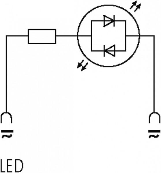 SUPRESSOR P/ ELETROVALVULA 18MM 230VAC/DC C/