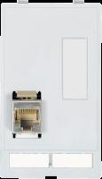 MODLINK MSDD INSERTO 1X RJ45 8 POLOS METALICO CAT5E FEMEA/FEMEA + TAMPA DB9 468000-1210000