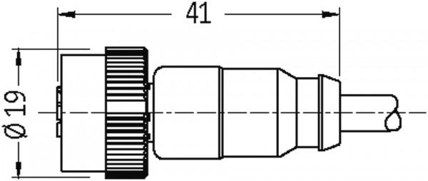 CABO PUR MQ12 MACHO + FEMEA 5 POLOS PRETO 10 METROS