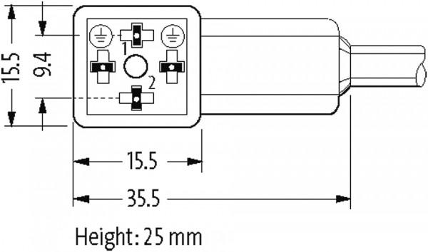 CABO VALVULA PVC FORM CI 9 4 MM 24VCC/CA