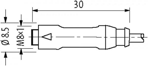 M8 male 0° / M8 female 0° snap-in