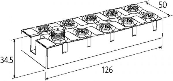 CUBE67+ 12 ENTRADAS/SAIDAS DIGITAIS 4I/O LINK EXPANSIVO 8XM12