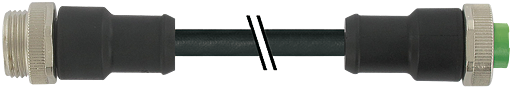 Mini (7/8) 3 pole, Male (Ext.) Straight/Female Straight,