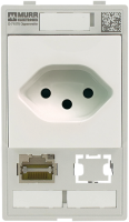 MODLINK MSDD SIMPLES COMBI INSERTO SWISS RJ45+ RECORTE DE DADOS 8 POLOS METAL 468000-4540001