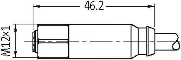 M12-Steel male 90° / M12-Steel female 0°