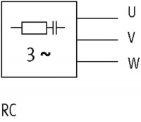 RC3U - SUPRESSOR P/ MOTOR RC 3X400 VAC 10KW ME23011