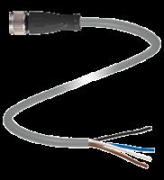 CONECTOR FEMEA, M12, 4 PINOS V1-G-5M-PVC