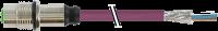 CABO PUR M12 FEMEA RETO RECEPTOR SHIELDED ROSCA FRONTAL + ABERTO DEVICENET 5 POL 713571-8030100