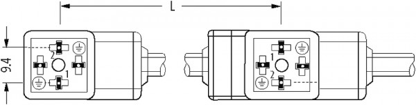 MSUD double valve plug form CI 9,4mm with cable