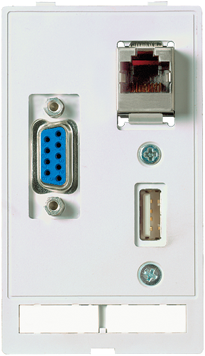 MODLINK MSDD INSERTO TOMADA USB + RJ45 + DB9 FEMEA/MACHO (GENDER CHANGER)