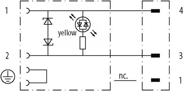 M8 MALE 0° 3 POLE / MSUD VALVE PLUG FORM A 18MM