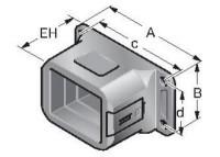 FL-EF FLANGE CONETORA PARA CONDUITE RETANGULAR PRETA MP83361018