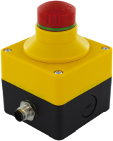 Emergency-stop pushbutton with 2 positive opening contacts 69041