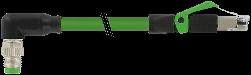 M8 male 90° / RJ45 male 0° shielded EC