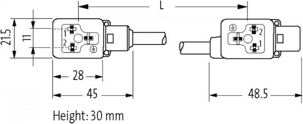 M12 MALE ON TOP OF MSUD DOUBLE VALVE PLUG 11MM