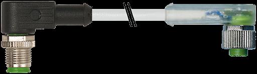 M12 MALE 90° / M12 FEMALE 90° LED