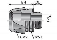 VG PG9-K TERMINACAO CONDUITE RETA CINZA IP 68 MP83511412