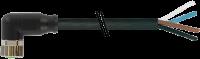 CABO PUR M8 ABERTO+FEMEA90 4POLOS PRETO 5M 708101-6310500
