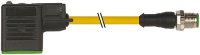 CABO PVC M12 MACHO RETO + CONECTOR PARA VALVULA FORMA BI 24V 1.5 METRO AMARELO 740961-0160150