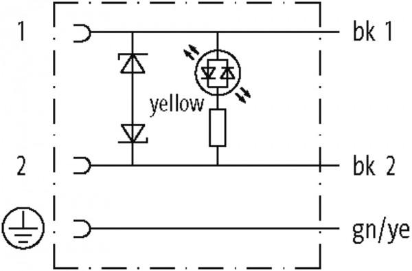 CABO PUR/PVC 10MM 24VAC/DC DIODO ZENER+LED 2POLOS+TERRA 180 CINZA 3M