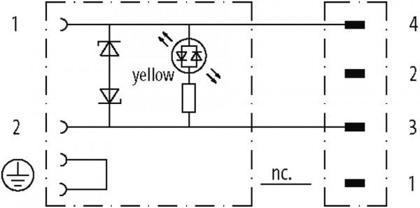 M8 MALE 90° / MSUD VALVE PLUG FORM C 8 MM(SMALL)