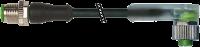 CABO PUR M12 MACHORETO+FEMEA90LED 3POLOS PRETO 3M 740321-6330300