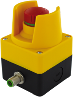 Emergency-stop pushbutton with 2 positive opening contacts 69040