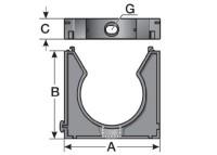 HS/U 16 - SUPORTE PLASTICO P/ CONDUITES M20 E P16 - CINZA MP83631020