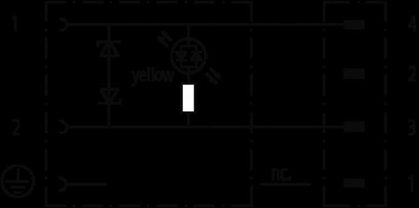 M8 MALE 0° 4 POLE / MSUD VALVE PLUG FORM BI 11MM
