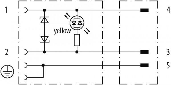 M12 MALE 90° / MSUD VALVE PLUG FORM C 8 MM
