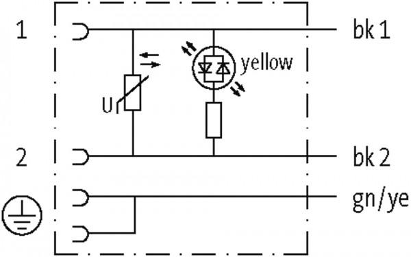 CABO PUR/PVC 18MM 230VAC/DC VARISTOR+LED 2POLOS+TERRA CINZA 3M