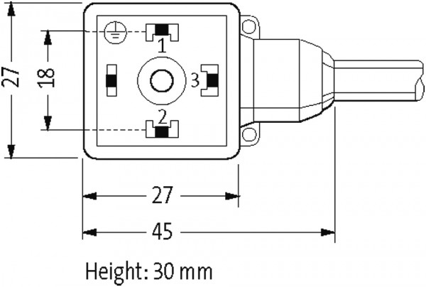 CABO PVC 18MM 24VDC 2-LEDS 3POLOS+TERRA AMARELO 5M