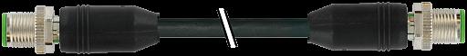 M12 male 0° / M12 male, 0°, shielded, Ethernet
