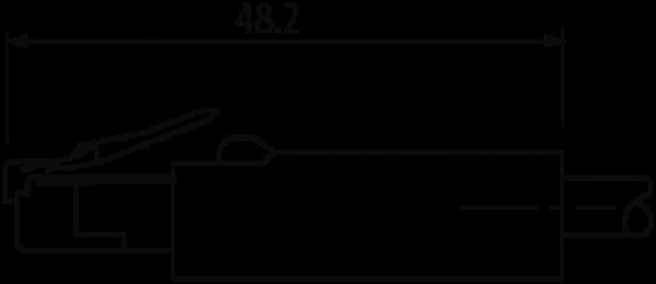 RJ45 male 0° / RJ45 male 0° Gigabit