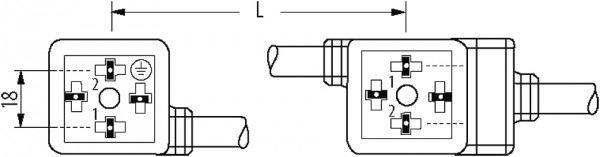 MSUD double valve form A 18mm with cable