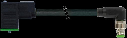 M8 male 90° / MSUD valve plug form CI 9,4mm(small)
